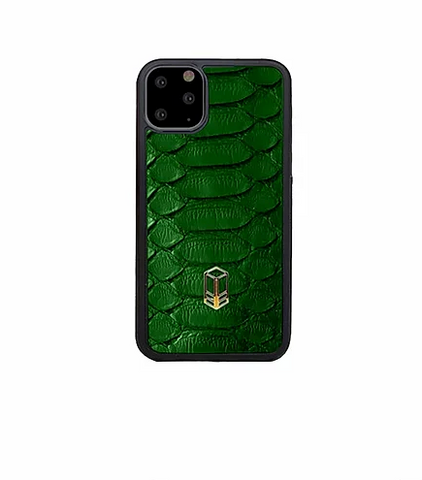 British Racing Green iPhone Python Case