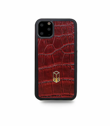 'Rari Red iPhone Alligator Case