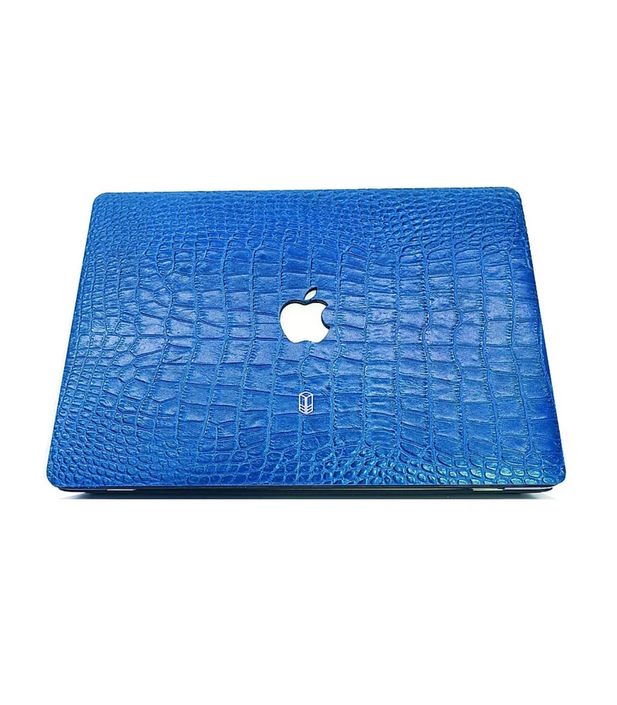 Blue Macbook Alligator Case