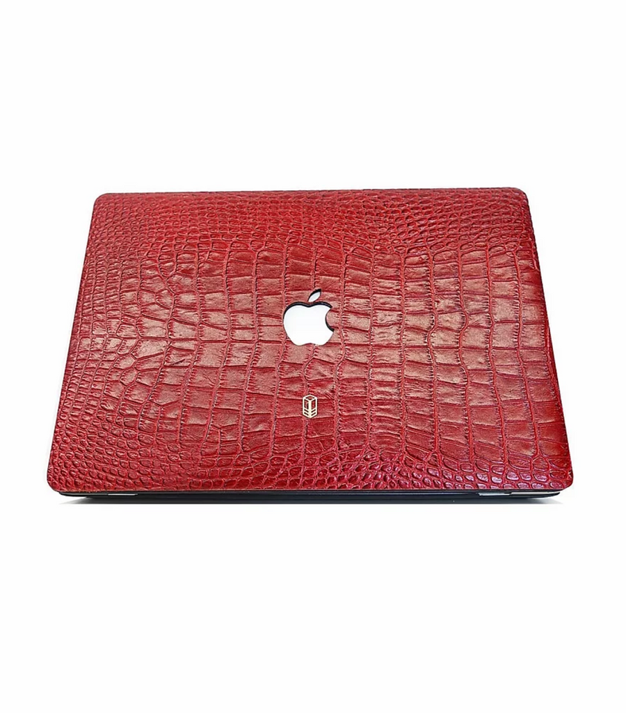 Red Macbook Alligator Case