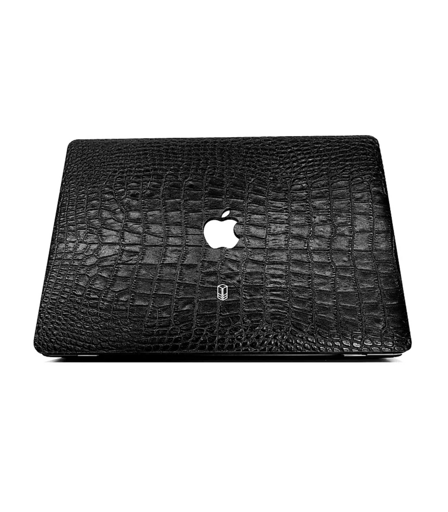 Carbon Black Macbook Alligator Case