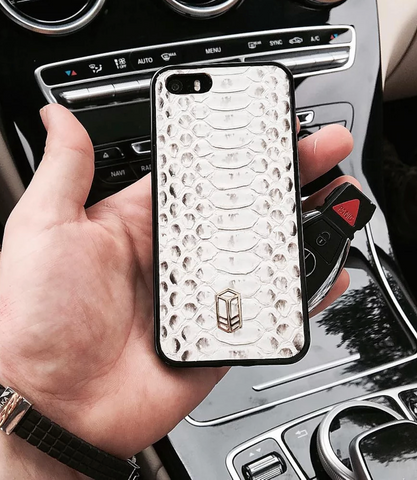 Natural White iPhone Python Case