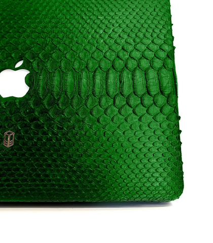 British Racing Green Macbook Python Case