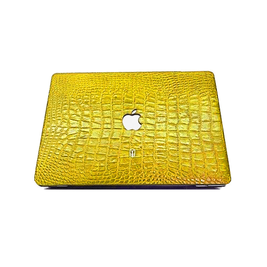 Yellow Macbook Alligator Case