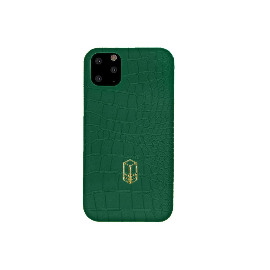British Racing Green iPhone Alligator Case
