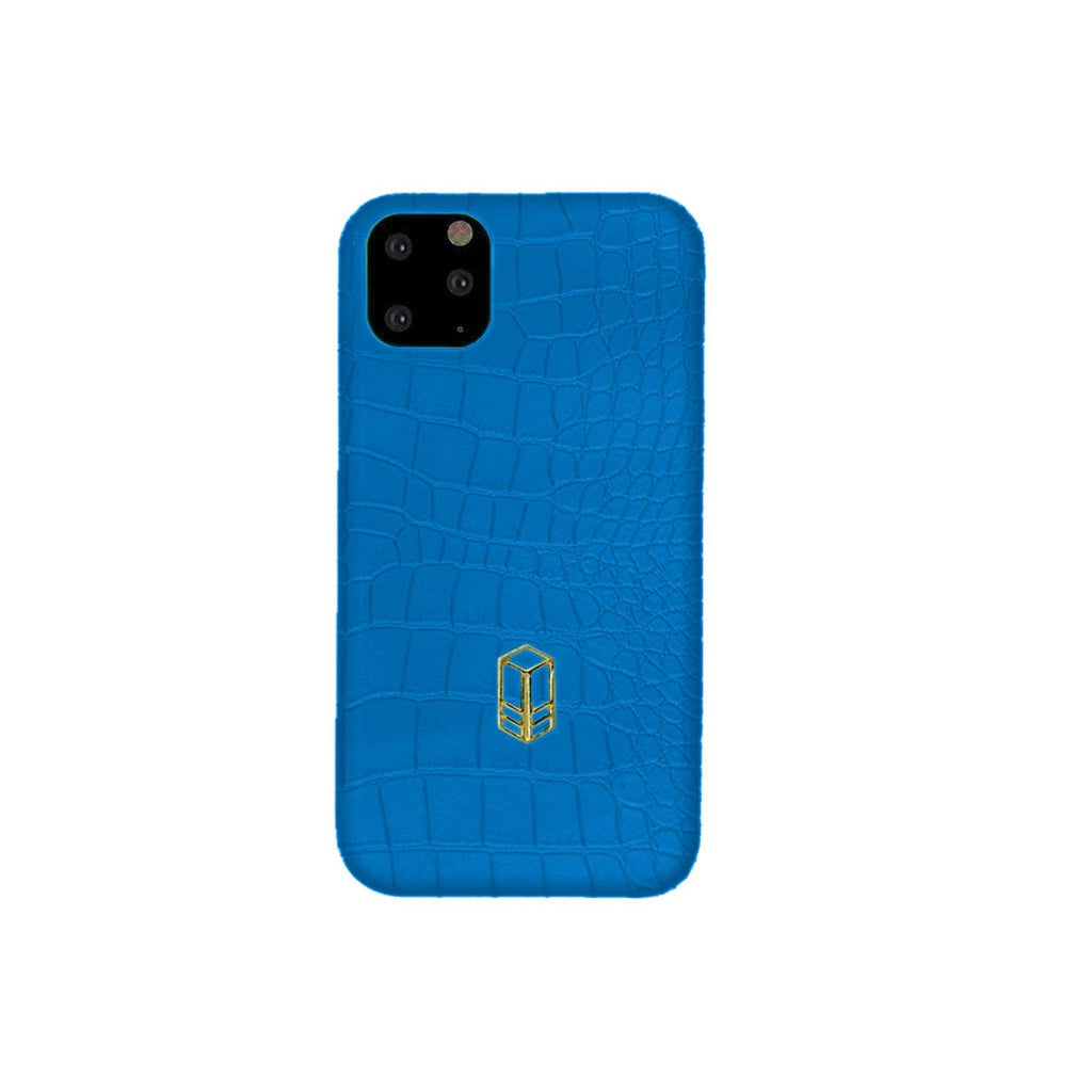 Veyron Blue iPhone Alligator Case