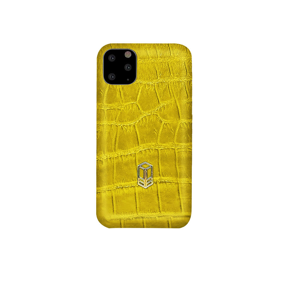 Yellow iPhone Alligator Case
