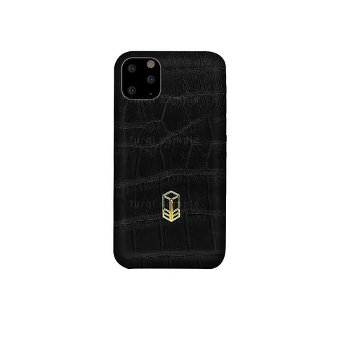 Carbon Black iPhone Alligator Case