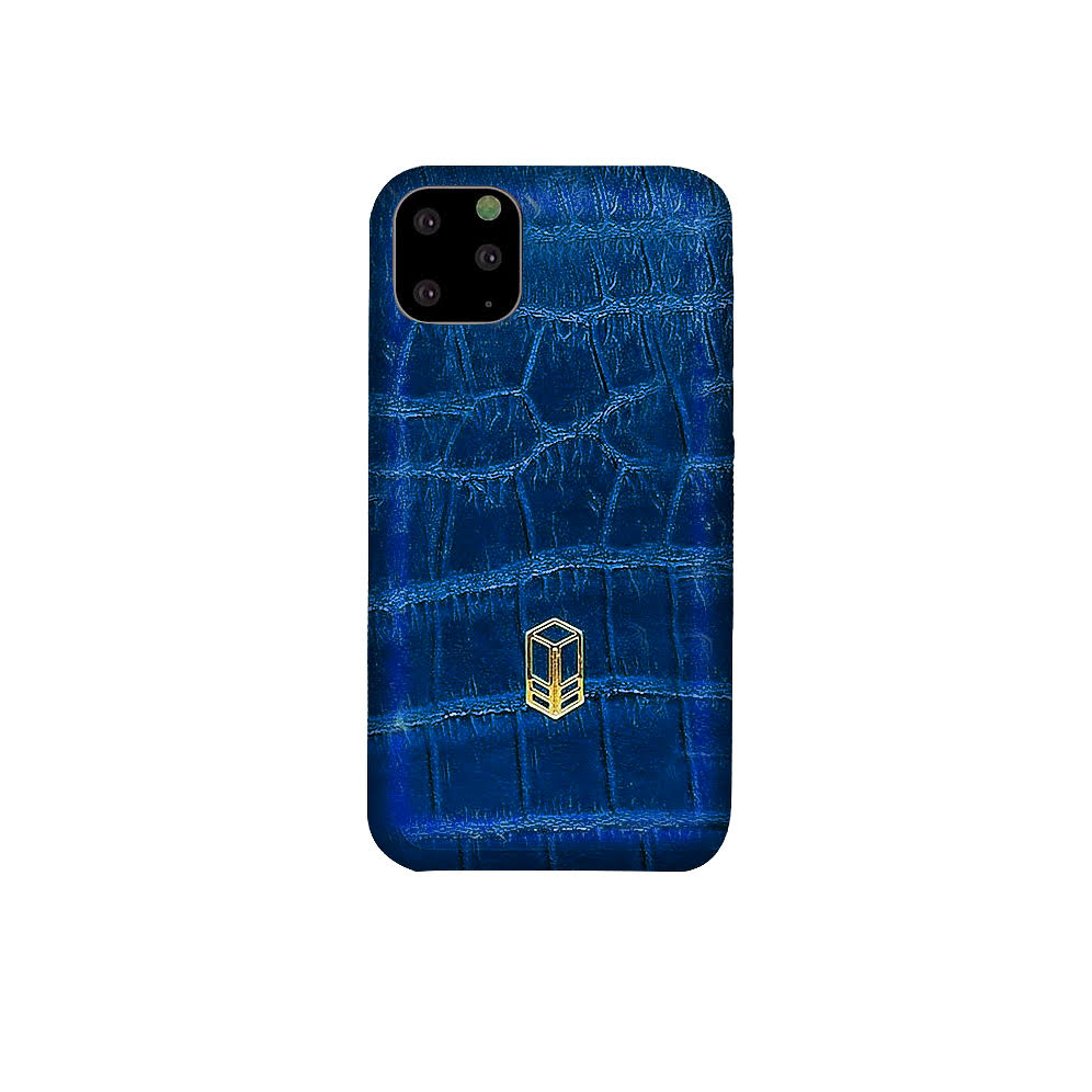 Blue iPhone Alligator Case
