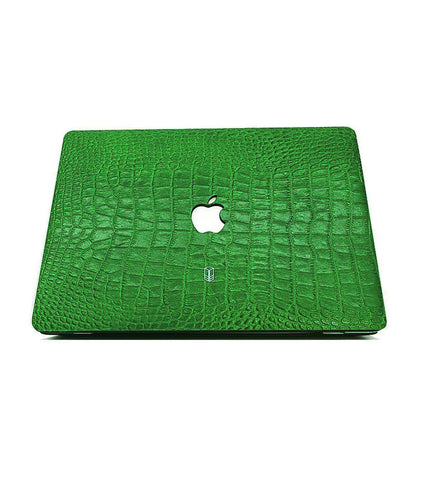 British Racing Green Macbook Alligator Case