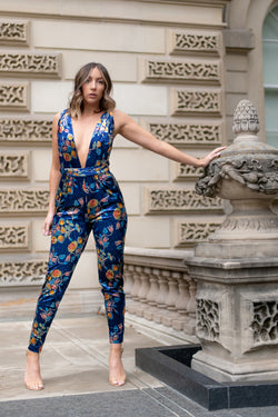 FLORAL VELOUR ORIGINAL JUMPSUIT