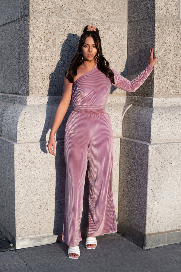 DUSTY ROSE SASHA JUMPSUIT
