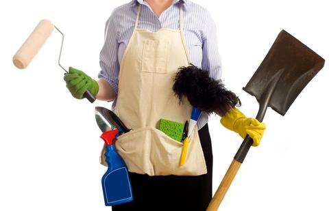 Cleaning Lady Editorial Image