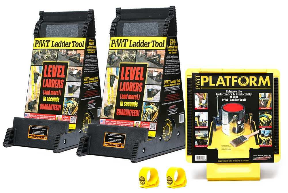ProVision Tools Special Bundle Includes: two PiViT LadderTools, two PiViT Thumbs, and one PiViT Platform