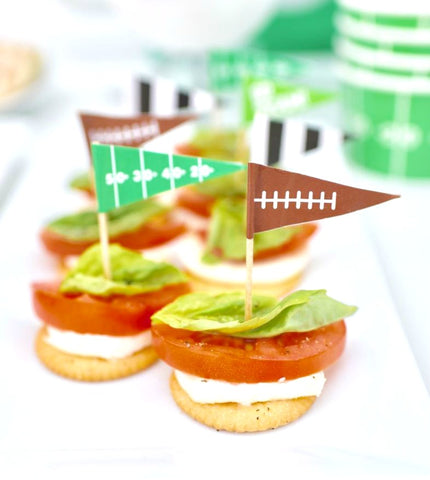 diy football food flags