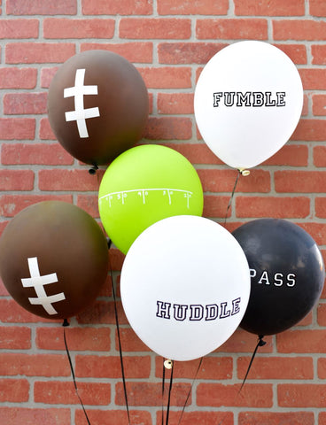 diy football balloons