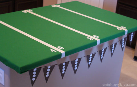 diy football tablecloth