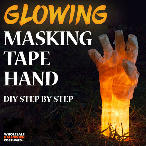 diy glowing creepy hand