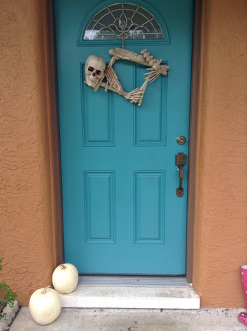 diy skull bone wreath