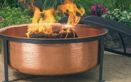 Sunnydaze Decor Hammered Copper Fire Pit - Fire Pit Plaza - 1