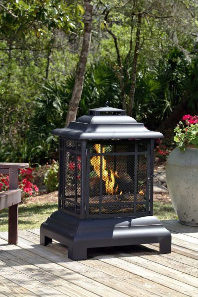 Fire Sense Rectangle Pagoda Patio Fireplace - Fire Pit Plaza