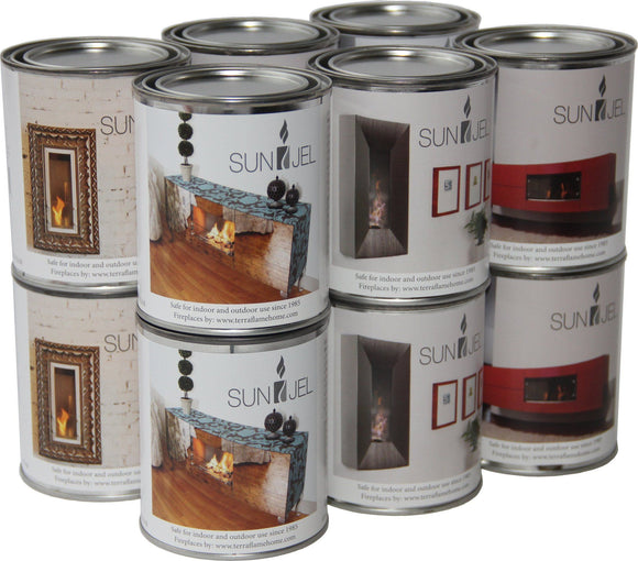 13 Oz Canisters - Sun Jel Gel Fuel 13oz Cans (12 Pack)
