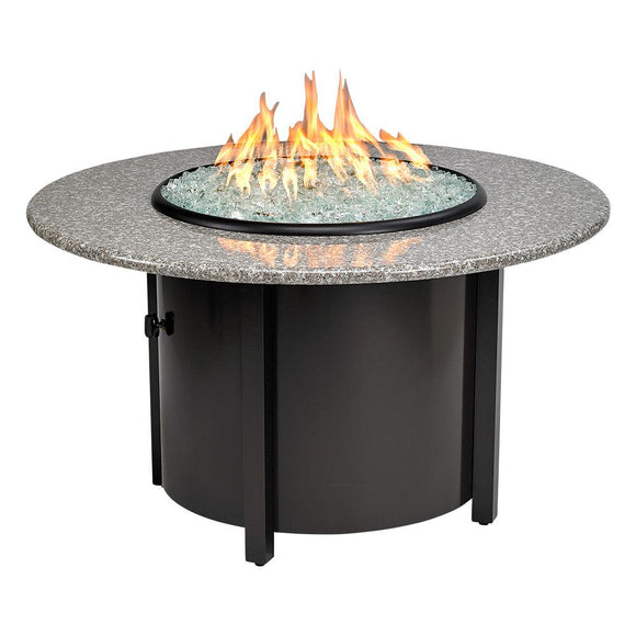 Carmel Chat Height Propane Fire Pit Round Table