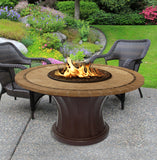 Rodeo Chat Height Gas/Propane Fire Pit Table - Fire Pit Plaza - 21