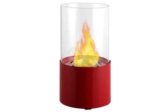 Ignis Circum Red Tabletop Ventless Ethanol Fireplace 11.5