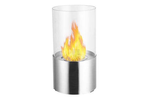 "Ignis Circum Stainless Steel Tabletop Ethanol Fireplace 11.5"" - Fire Pit Plaza - 1"