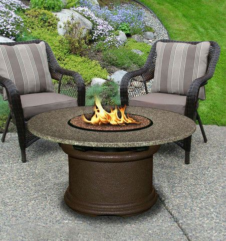 Del Mar Chat Height Gas/Propane Fire Pit Table - Fire Pit Plaza - 1