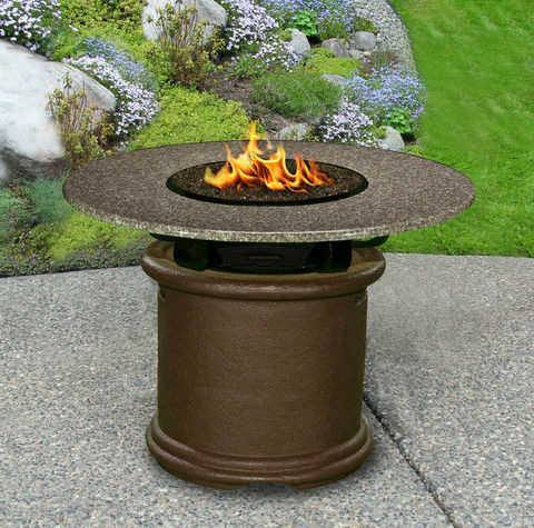 Del Mar Dining Height Gas/Propane Fire Pit Table - Fire Pit Plaza - 1