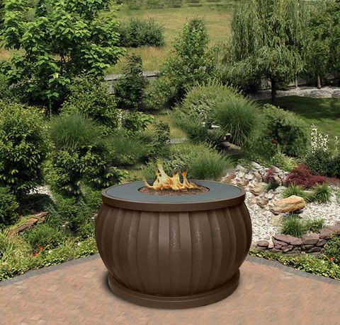El Paseo Chat Height Gas/Propane Fire Pit Table - Fire Pit Plaza - 1