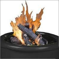 Gas Fire Pit Logs, 6 Piece Set with Cinders - Fire Pit Plaza