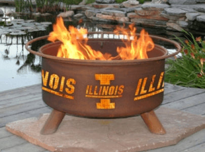 University of Illinois Fire Pit Grill - Fire Pit Plaza - 1