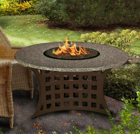 La Costa Chat Height Gas/Propane Fire Pit Table - Fire Pit Plaza - 1