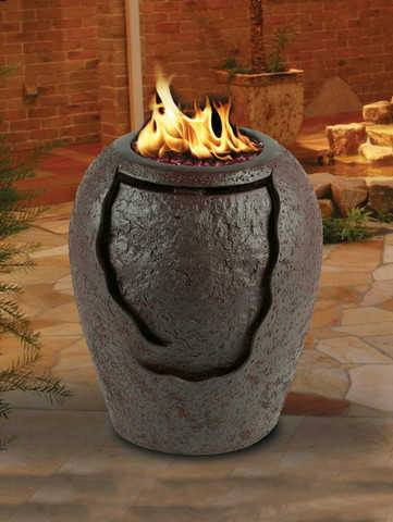 La Jolla Waterfall Fire Pit - Fire Pit Plaza - 1