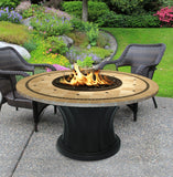 Rodeo Chat Height Gas/Propane Fire Pit Table - Fire Pit Plaza - 24