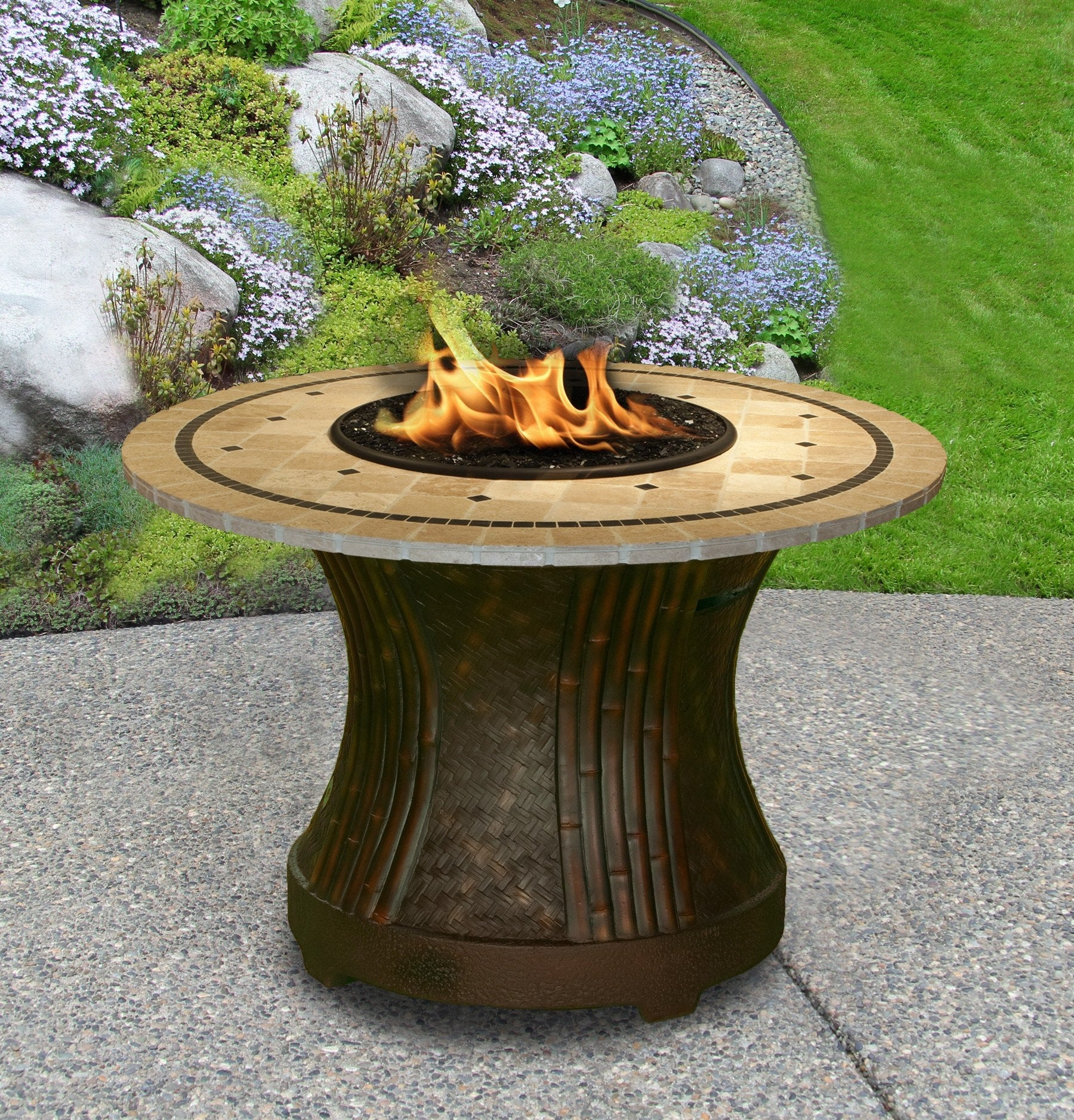 Tradewinds Dining Height Gas Propane Fire Pit Table Fire