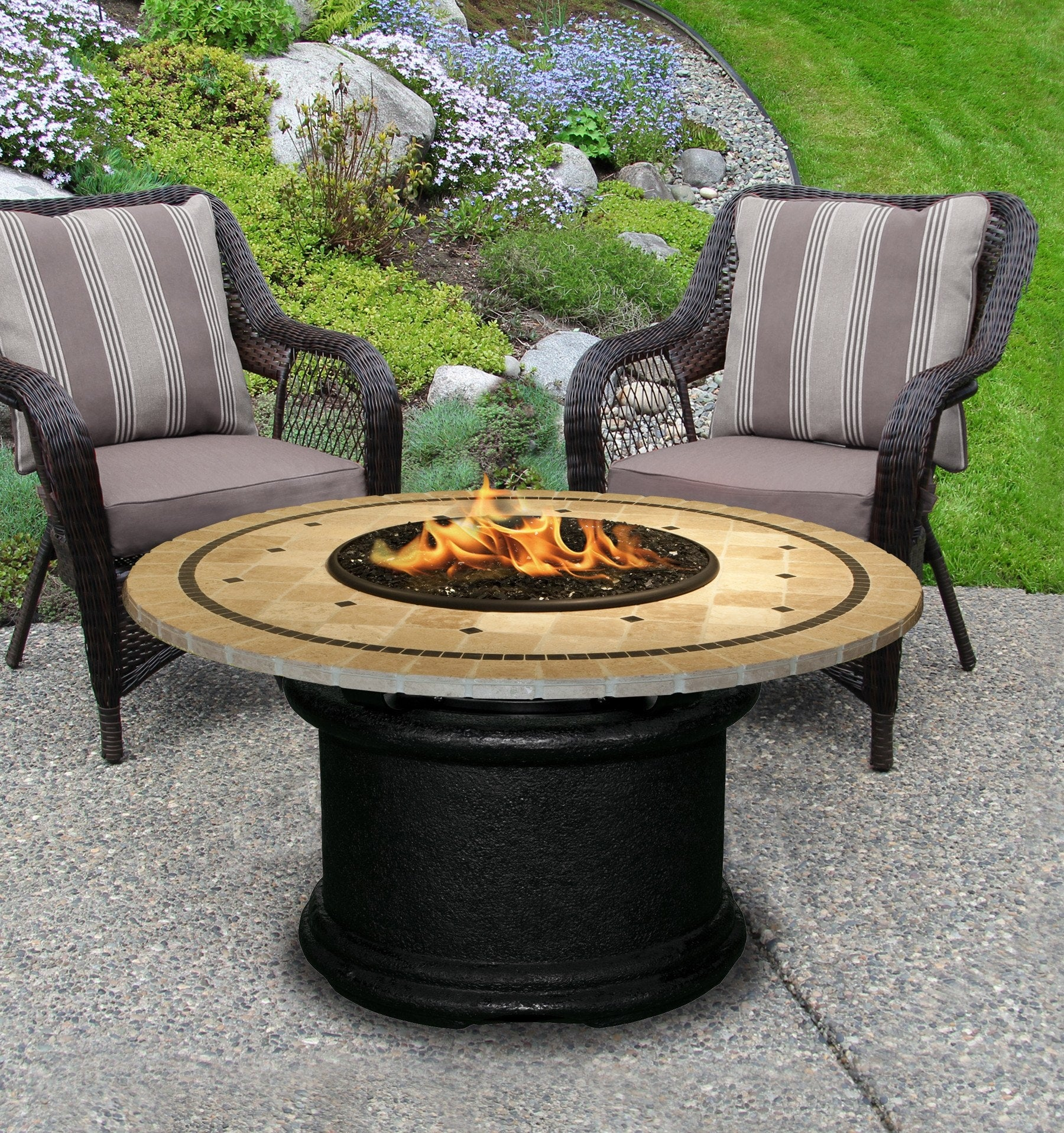 ... Del Mar Chat Height Gas/Propane Fire Pit Table   Fire Pit Plaza   20 ...