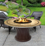Rodeo Chat Height Gas/Propane Fire Pit Table - Fire Pit Plaza - 22