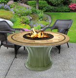 Rodeo Chat Height Gas/Propane Fire Pit Table - Fire Pit Plaza - 28