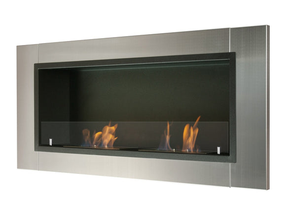 Ignis Lata Wall Mounted Recessed Ethanol Fireplace w/Glass 43.25