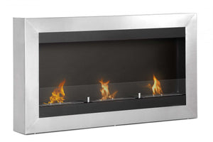 "Ignis Magnum Wall Mounted Ventless Ethanol Fireplace w/Glass 43.5"" - Fire Pit Plaza - 1"