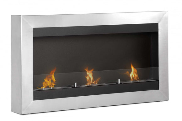 Ignis Magnum Wall Mounted Ventless Ethanol Fireplace w/Glass 43.5