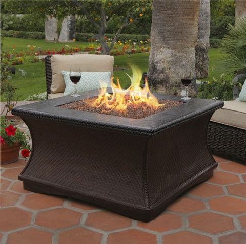 Monterey Chat Height Gas/Propane Fire Pit Table - Fire Pit Plaza - 1
