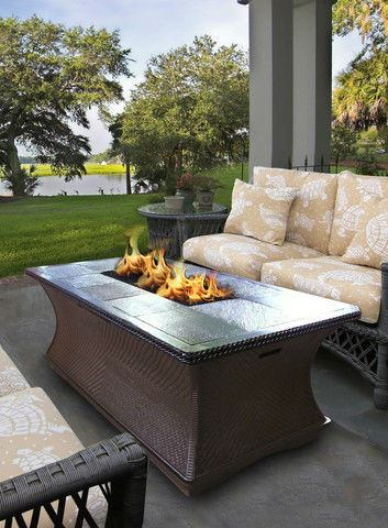 Monterey Gas/Propane Fire Pit Coffee Table - Fire Pit Plaza - 1