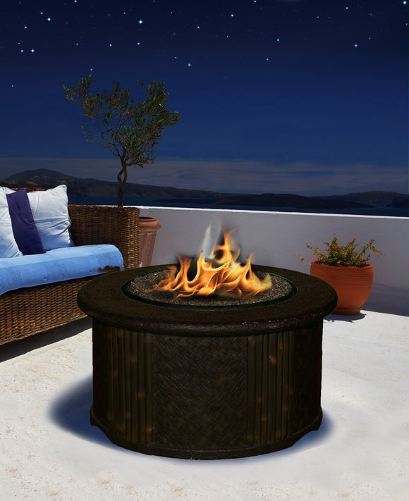 Tradewinds Chat Height Gas/Propane Fire Pit Table - Fire Pit Plaza - 1