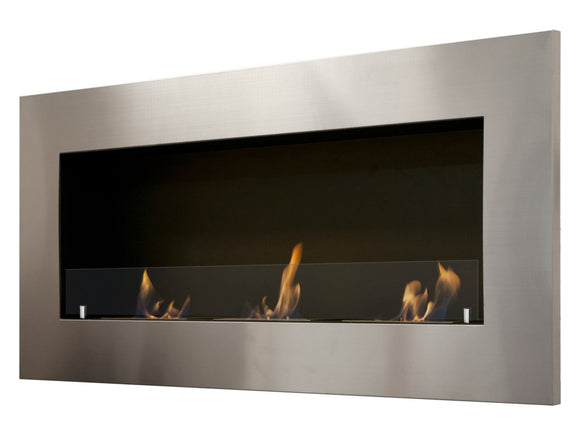 Ignis Optimum Wall Mounted Recessed Ethanol Fireplace w/Glass - Fire Pit Plaza - 1