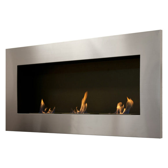 Ignis Optimum Wall Mounted Recessed Ethanol Fireplace - Fire Pit Plaza - 1